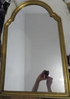 Grand Et Beau Ancien Miroir - Avec Cadre Doré Or - Furniture