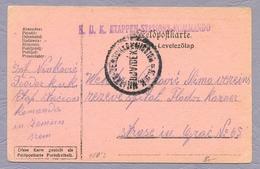 Österreich-Ungarn 1916 K.u.k. Etappen-Stations-Kommando From Serbia Zemun Feldpost Postkarte Stationery - Serbia
