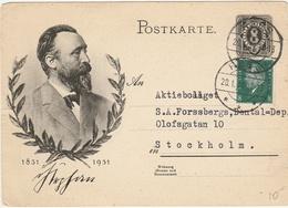 Universal Postal Union Heinrich Von Stephan UPU Fondateur De L'Union Postale Universelle Créateur De La Carte Postale - Poste