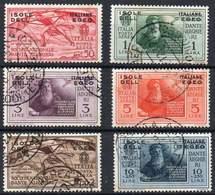 EGEO 1932 - The Airmail Set Of Dante Alighieri (6). Very Fine Used. - Egée