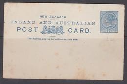 New Zealand 1890 1d Postal Stationery Card - Entiers Postaux