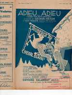 CAF CONC OPÉRETTE REVUE THÉÂTRE PARTITION L'AUBERGE DU CHEVAL BLANC MILTON ADIEU ADIEU DORIN NAZELLES ILL CERUTTI - Music & Instruments