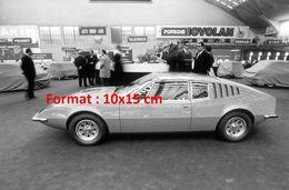 Reproduction D'une Photographie D'une Autobianchi Au Salon De L'automobile à Turin En 1968 - Reproductions