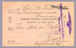 Österreich-Ungarn 1915 K.u.k. Dopisnica Za Bojnu Poštu From Serbia Petrovaradin To Wien Feldpost Postkarte Stationery - Serbia