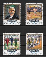 EMIRATO DE FUJEIRA AN 1972 75TH ANNIVERSAIRE PIERRE DE COUBERTIN SURCHARGE MUNCHEN 1972 RARE OBLITERES - Fujeira