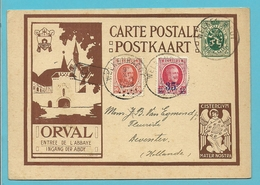 """199+247 Op Geillustreerde Kaart Met ENGEL """" ORVAL """" Met Stempel WELKENRAEDT - Illustrat. Cards"""