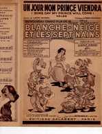 CAF CONC WALT DISNEY PARTITION UN JOUR MON PRINCE VIENDRA WILL COME FILM BLANCHE NEIGE ET LES SEPTS MAINS 1938 - Music & Instruments