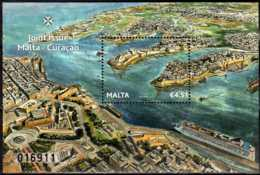 2013 Malta -Harbors - Joint Issue With Curacao - Numbered MS MNH** MiNr. 1824 (Block 56) - Malta