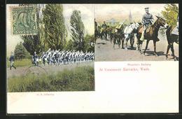 AK Vancouver, WA, At Vancouver Barracks, Mountain Battery & U.S. Infantery - Vancouver