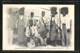 AK Haiti, Armee Haitienne, Tambours, Sapeurs, Tambour-majo & Clairons - Cartes Postales