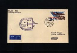 Czechoslovakia 1976 CSA First Flight Prague - Larnaca - Czechoslovakia