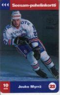 TURKU : TTLD175 10Mk Jouko Myrra (23) Hockey USED Exp: 12/97 - Finland