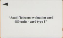 Saudi Arabia - SAU-O-04, GPT, Evaluation Card Type 1, 980 U, 1SAUD, 400ex, 1993, Mint - Saudi Arabia