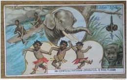 CAFÉ - LECKWYCK & Co - ROTTERDAM - DE ROODE PELIKAAN - AFRIQUE - 12,5 X 7,5 Cm - Vieux Papiers