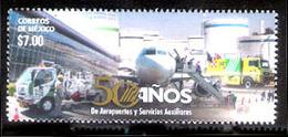 2607  Firemen - Airports - Avions - Mexico - MNH - Free Shipping - 1,85 - Brandweer