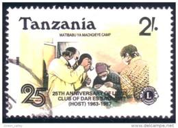 866 Tanzanie Lions Club Eye Medecine Operation Yeux Oeil (TZN-114) - Tanzanie (1964-...)