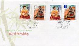 2011 SG3665/66 Korea Friendship FDC + Korean Stamps Cancelled FDC - Sobre Primer Día (FDC)
