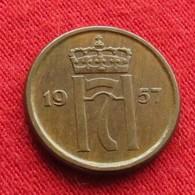 Norway 1 Ore 1957 KM# 398  Norge Noruega Norvege Norwegen Noorwegen - Norvège