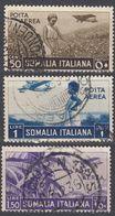SOMALIA - 1936 - Lotto Formato Da Tre Valori Obliterati: Posta Aerea Yvert 19, 22 E 23. - Somalia
