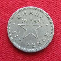 Ghana 6 Six Pence 1958 KM# 4 *V1 Gana - Ghana