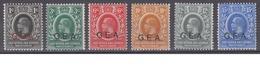 TANGANYIKA - Overprinted G.E.A. All 6 WATERMARK MULTIPLE CROWN CA Mint Hinged - Tanganyika (...-1932)