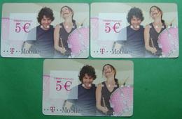 Montenegro Lot Of 3 PREPAID CARDS 5 EURO, Operator TMOBILE - Montenegro