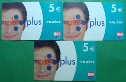 Montenegro Lot Of 3 PREPAID CARDS 5 EURO, Operator PROMONTE - Montenegro