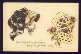FORTUNE TELLING PLAYING CARD CARDS ~ I Hold This Hand, I Want No More Cobb Shinn A/s - Playing Cards