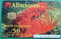 Albania CHIP CARD USED, Operator ALBTELECOM, 50 Units, 2001 - Albania