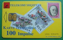 Albania CHIP CARD USED, Operator ALBTELECOM, 100 Units, 1997 - Albanië