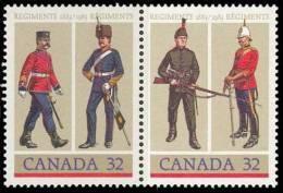Canada (Scott No.1008a - Régiments Militaires Canadiens) [**] - 1952-.... Règne D'Elizabeth II