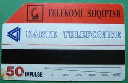 Albania MAGNETIC PHONECARD USED, Operator ALBTELECOM - Albania