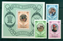 Antigua 1981 Charles & Diana Royal Wedding +MS MUH Lot81850 - Antigua And Barbuda (1981-...)