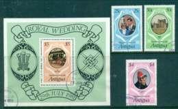 Antigua 1981 Charles & Diana Wedding + MS FU Lot44768 - Antigua And Barbuda (1981-...)