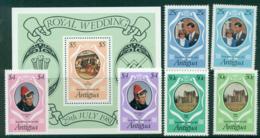 Antigua 1981 Charles & Diana Wedding +MS (+ Reprint) MUH Lot30144 - Antigua And Barbuda (1981-...)