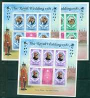 Antigua 1981 Charles & Diana Wedding 3x Sheetlet MUH Lot44772 - Antigua And Barbuda (1981-...)