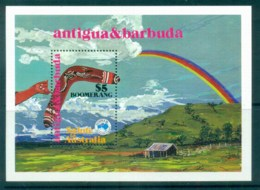 Antigua 1984 AUSIPEX'84 Boomerang MS MUH - Antigua And Barbuda (1981-...)