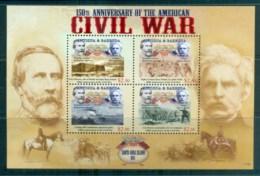 Antigua 2011 American Civil War 150th Anniv MS MUH - Antigua And Barbuda (1981-...)