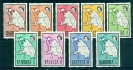Barbuda 1968-70 Definitives,Map MUH - Antigua And Barbuda (1981-...)