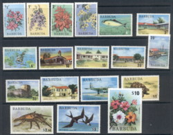 Barbuda 1974 Wildlife, Flowers, Architecture, Marine Life MUH - Antigua And Barbuda (1981-...)