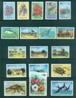 Barbuda 1974-75 Pictorials, Flowers, Bird MUH - Antigua And Barbuda (1981-...)