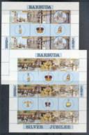 Barbuda 1977 QEII Silver Jubilee 2xsheetlets MUH - Antigua And Barbuda (1981-...)