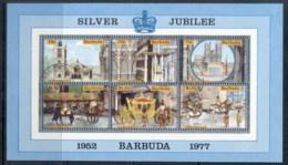 Barbuda 1977 QEII Silver Jubilee MS FU - Antigua And Barbuda (1981-...)
