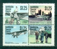 Barbuda 1977 Special Events, Lindberg's Atlantic Crossing $1.25 Blk4 MUH - Antigua And Barbuda (1981-...)