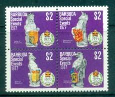 Barbuda 1977 Special Events, QEII Silver Jubilee $2 Blk4 MUH - Antigua And Barbuda (1981-...)