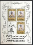 Barbuda 1978 QEII Coronation 25th Anniv.  $2.50c Sheetlet MUH - Antigua And Barbuda (1981-...)