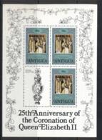 Barbuda 1978 QEII Coronation 25th Anniv.  90c Sheetlet MUH - Antigua And Barbuda (1981-...)