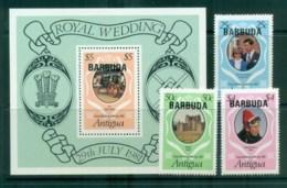 Barbuda 1981 Charles & Diana Royal Wedding +MS MUH Lot81851 - Antigua And Barbuda (1981-...)