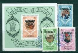 Barbuda 1981 Charles & Diana Wedding + MS FU Lot44788 - Antigua And Barbuda (1981-...)
