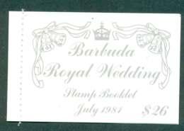 Barbuda 1981 Charles & Diana Wedding Booklet, Palaces Lot45332 - Antigua And Barbuda (1981-...)